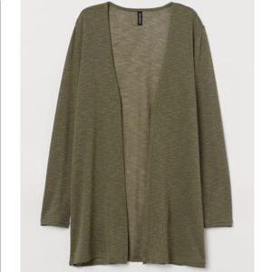 knit cardigan olive army green light weight